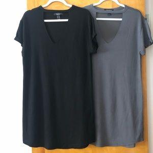 2 ShortSleeves T-Shirt Dresses